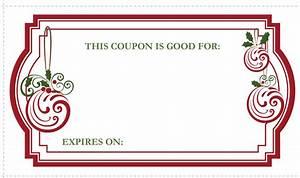 christmas gift coupons printable life with lovebugs With avery coupon template