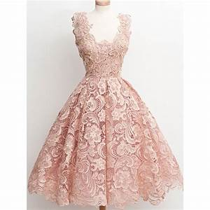 Vintage Blush Pink Short Homecoming Dresses 2016 Lace Ball ...