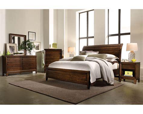 aspenhome bedroom set  sleigh bed walnut park asi set