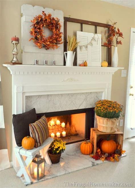 Decoration For Fireplace - fall fireplace mantel on fall fireplace fall