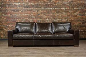 Leather sofa sectional choose color leather size for Couch vs sofa canada