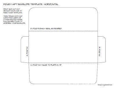 Money Envelopes Templates by Printable Money Envelope Templates
