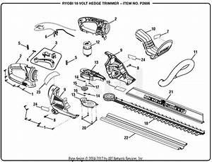Homelite P2606 18 Volt Hedge Trimmer Attachment Mfg  No
