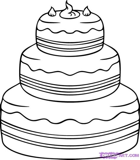 Step 4 How To Draw A Cake