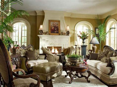 attractive living room  antique furniture