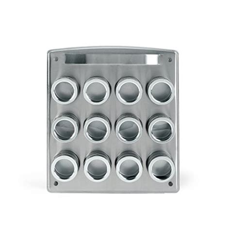 magnetic spice rack kamenstein 12 tin magnetic square spice rack marshmallowchef