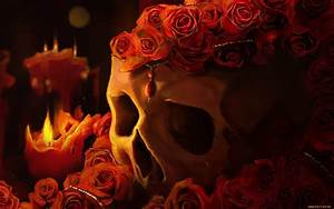Skull and roses wallpapers and images - wallpapers ...