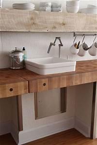 Plan Travail Massif : plan de travail en bois pour votre cuisine bricobistro ~ Premium-room.com Idées de Décoration