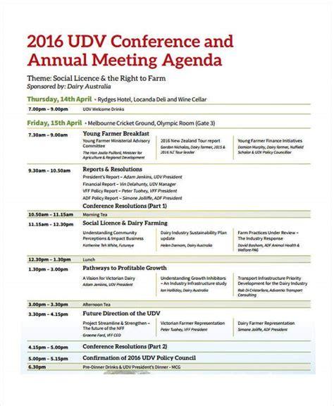 conference agenda format templates  sample