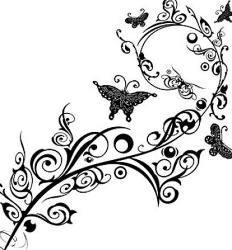 butterfly border black and white black white butterfly border clip 34