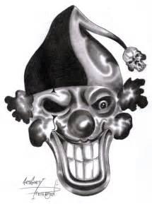 Evil Clown Skull Tattoo Designs