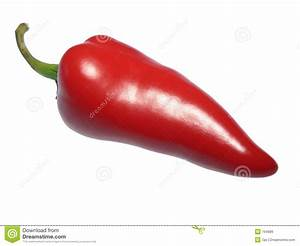 Red Hot Chili Pepper, Isolated On White Royalty Free Stock ...