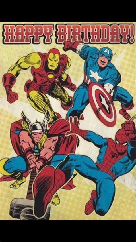 happy birthday  marvel happy birthday superhero