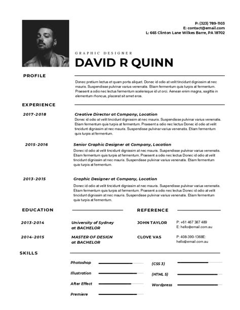 Impressive Resume Templates by 30 Most Impressive Resume Design Templates Designbold