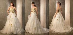 luxurious wedding dresses with gold accents sang maestro With white wedding dress with gold accents