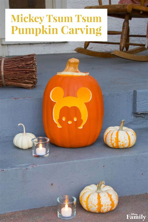 mickey tsum tsum pumpkin carving disney family