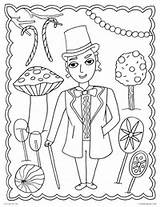 Coloring Willy Wonka Chocolate Factory Charlie Printable Wilder Gene Candy Getcolorings Culture Pop Activities sketch template