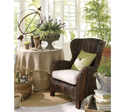 Pottery Barn Seagrass Wingback Chair Honey by Sunroom Seagrass Wingback Armchair Pottery Barn
