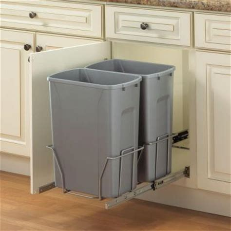 cabinet trash can home depot knape vogt 19 in h x 14 in w 22 in d steel in cabinet