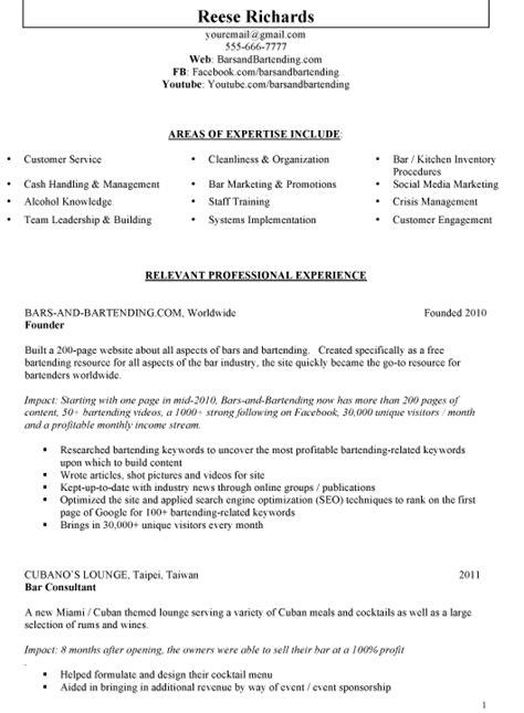 sample bar manager resume ideas  writing