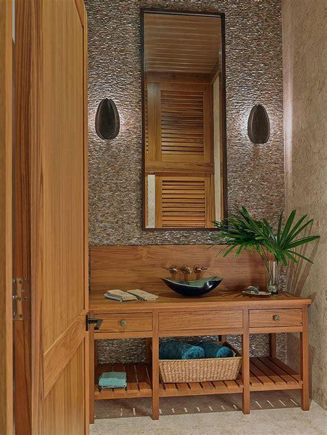 hot summer trend  dashing powder rooms  tropical flair
