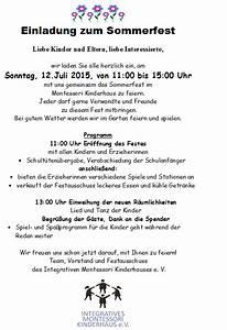 Einladung Zur Einweihung : einladung sommerfest text ~ Lizthompson.info Haus und Dekorationen