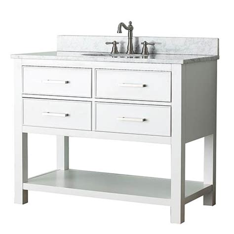 brooks white 42 inch vanity only avanity vanities bathroom