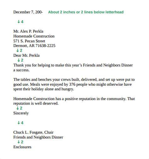 standard business letter format