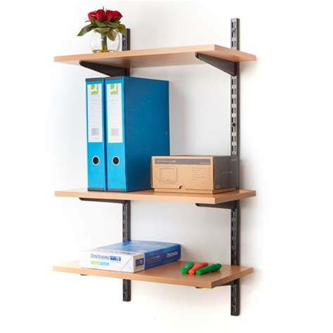office wall mounted shelving kits  black mm wide