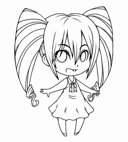 Chibi Coloring Drawing Awesome Pages Drawings Anime