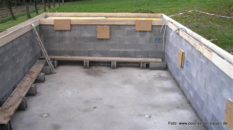 Mauer Selber Mauern by Tipps Pool Mit Schalsteinen Selber Mauern Pool Selber