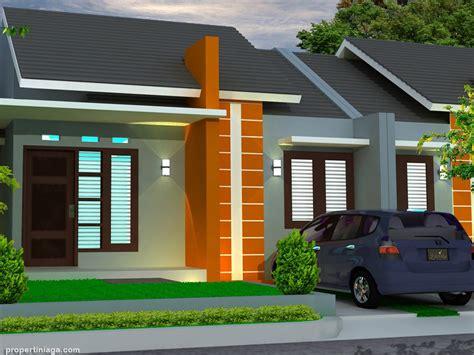 contoh model gambar desain rumah minimalis sederhana pedesaan  lantai tampak depan
