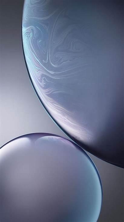Wallpapers Iphone Xr Grey Bubbles 4k Apple