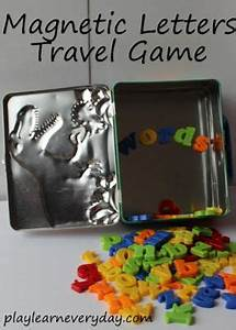 magnetic letters travel game plays cars and children With magnetic letters for cars