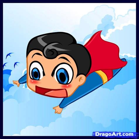 draw chibi superman step  step chibis draw