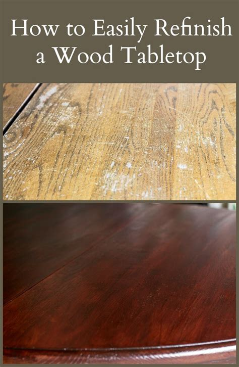 How To Easily Refinish A Wood Tabletop