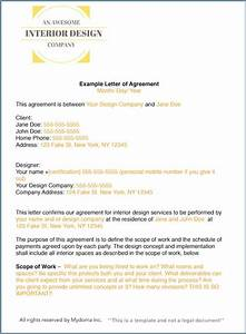 how to write an interior design letter of agreement With interior design contract template