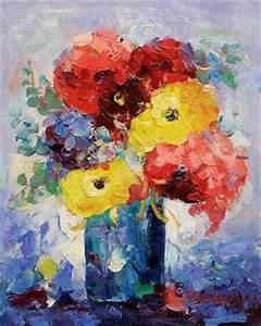 Tableau Fleurs Moderne : tableau fleur 0202 tableaux fleurs contemporains ~ Teatrodelosmanantiales.com Idées de Décoration