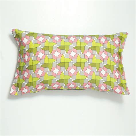 Geometric cushion, mixed colours   Chocolate Creative