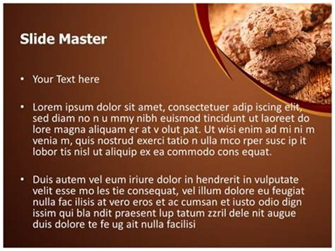 chocolate cookies powerpoint template background