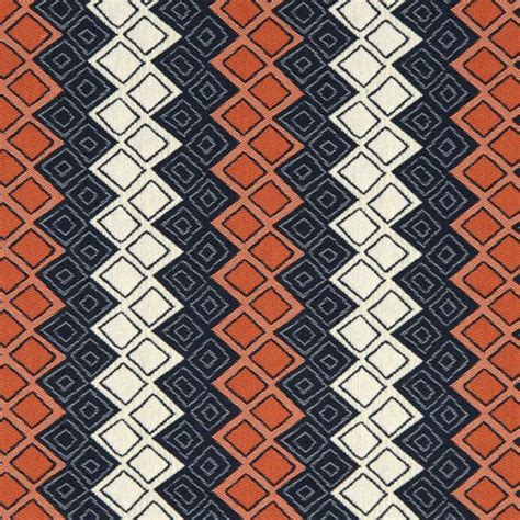 Blue And Orange Upholstery Fabric navy blue orange upholstery fabric heavyweight by