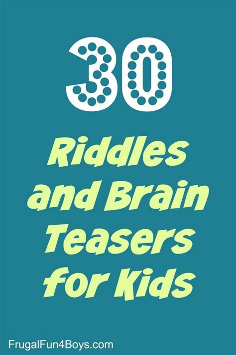 riddles  brain teasers  kids trips wake