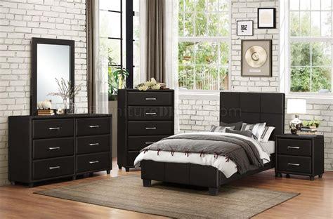 lorenzi  pc kids bedroom set  black  homelegance