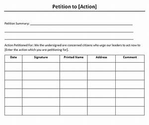 30 petition templates how to write petition guide With petitions template