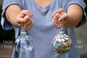 diy mosaic ornaments from cds video tutorial