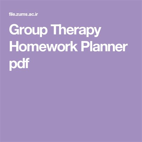 Brief Family Therapy Homework Planner by Therapy Homework Planner Pdf Homework Planner