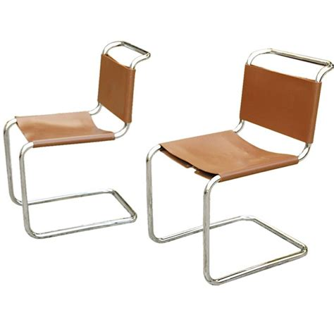 pair  marcel breuer spoleto chairs  knoll