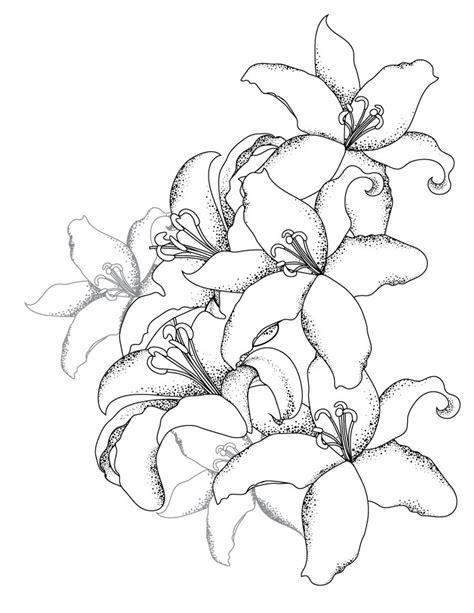 bouquet de lys coloriage pour adulte gratuit artherapieca