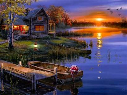 Nature Lake Night Wallpapers Sunset Wallpapers13