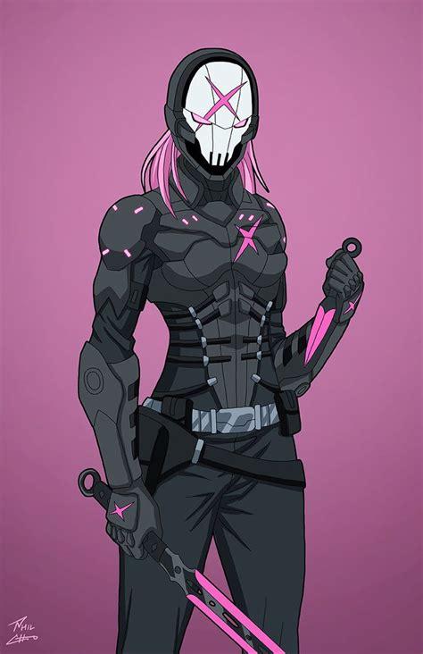 pink  superhero art concept art characters